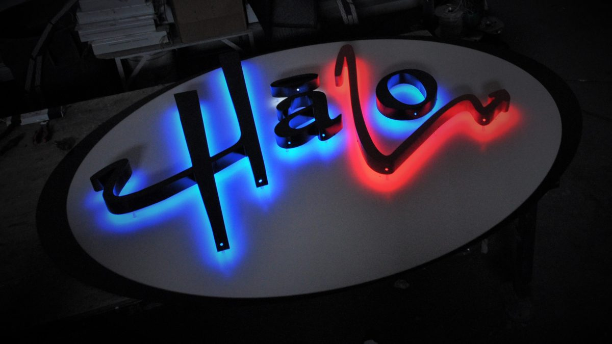 Halo Lit Channel Letters Sign